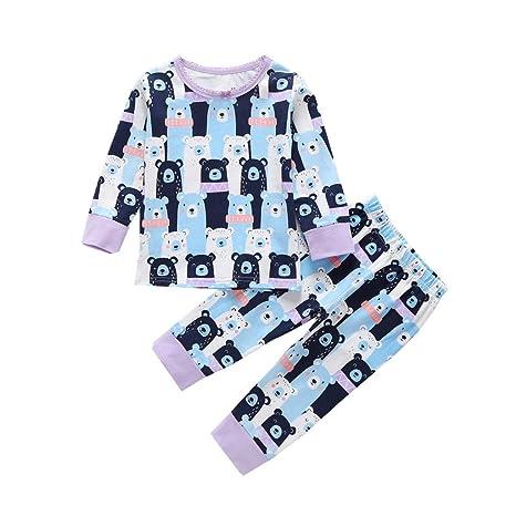 Mealeaf - Pijama de Manga Larga para bebé (3-24 m): Amazon ...