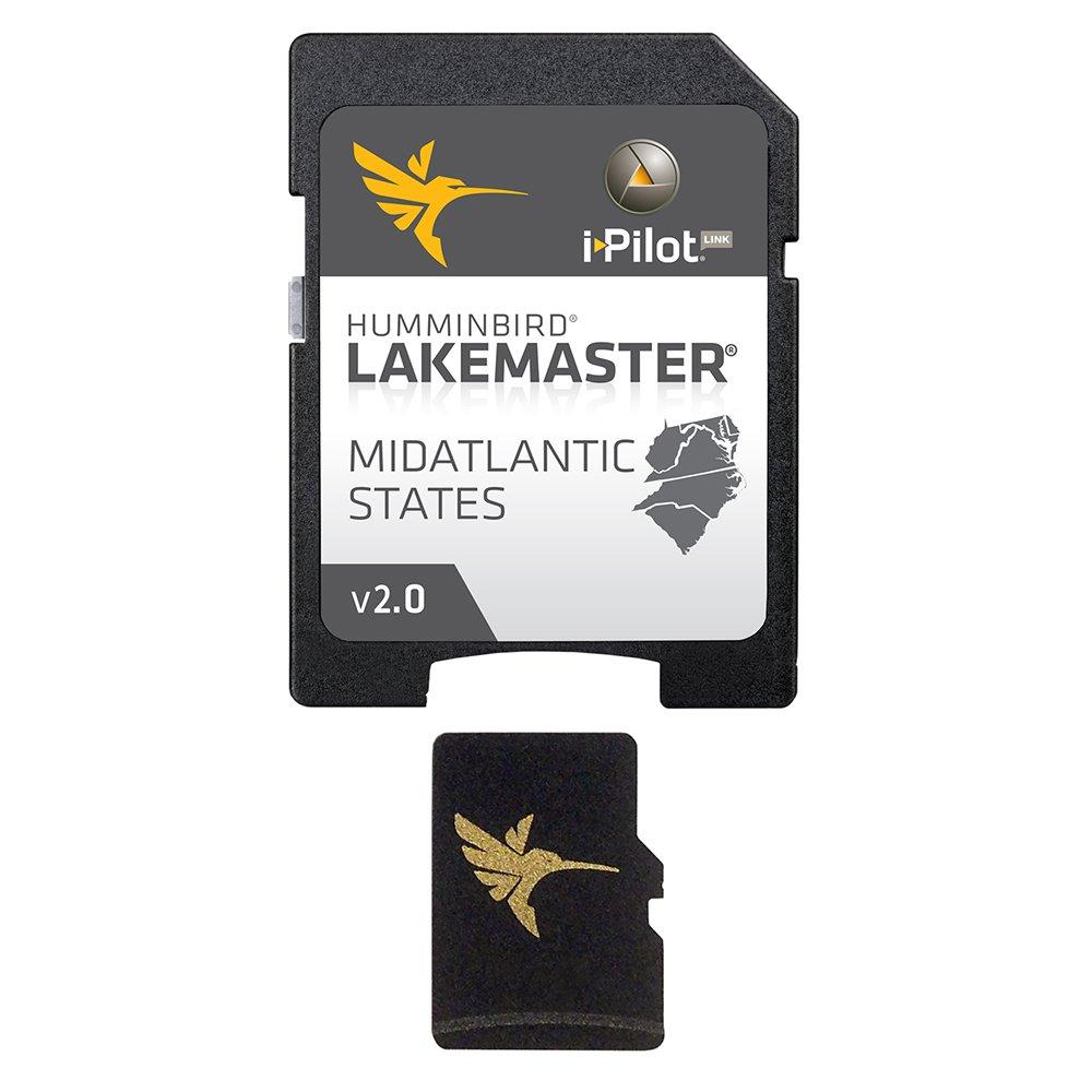 Humminbird LakeMaster Mid-Atlantic States Edition Digital GPS Lake Maps, Micro SD Card, Version 2 by Humminbird