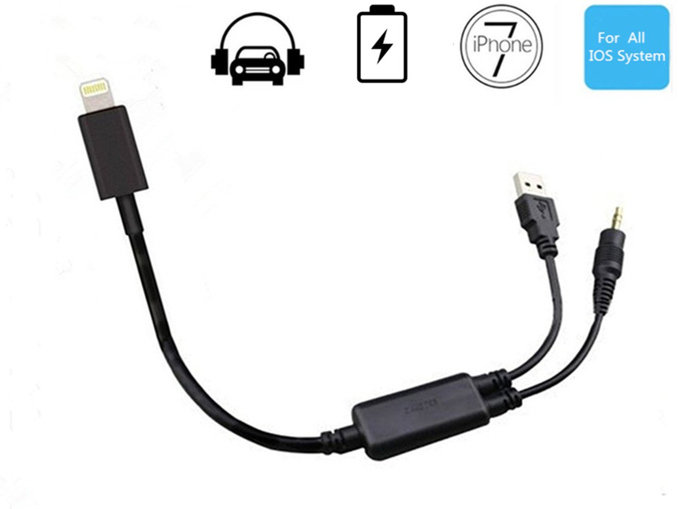 Hain Bmw Car Aux In Adapter 3 5mm Jack And Usb Y Cable Connecting Iphone 7 Ebay