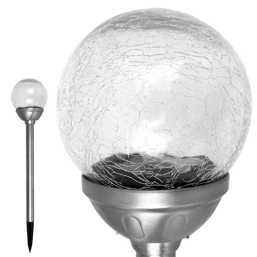 Solar Dekokugel aus Glas NEU Solarleuchte Durchmesser 20 cm Höhe 16 cm