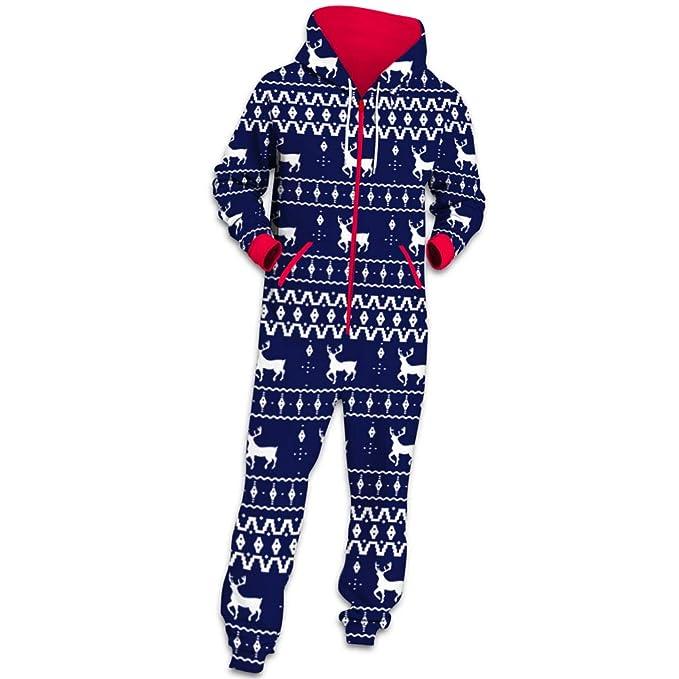 vendita calda online 2f595 f15ad Autunno Uomo Natale Moda Pigiama Jumpsuit a Maniche Lunghe, Morbuy ...