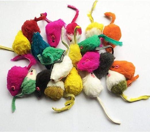 Byfri 10pcs / Lot Falsos ratón doméstico del Gato Juguetes Falsos Ratas Ratones Que juegan los Juguetes para Gatos Gatito Color al Azar: Amazon.es: Hogar
