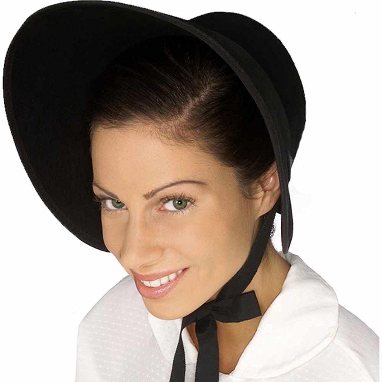e80f44e6a15f9 The perfect accessory to your next costume! includes one black felt bonnet