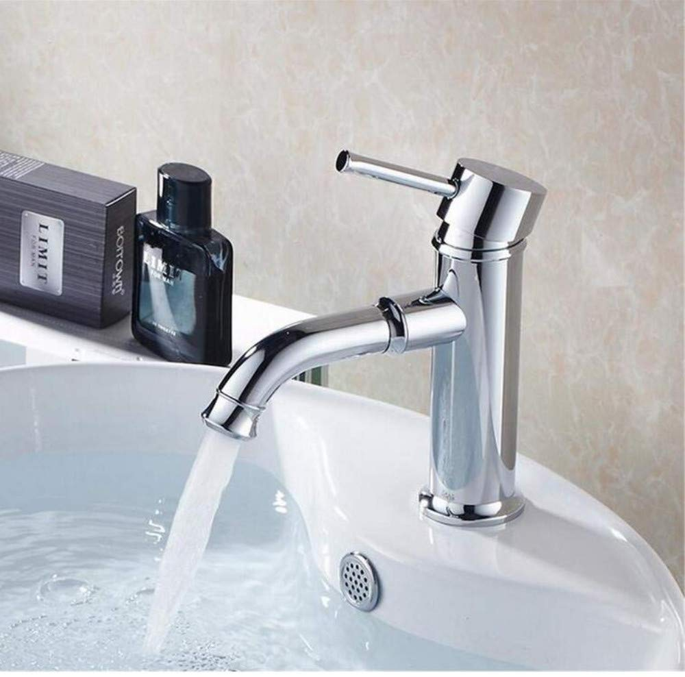 Chrome-Plated Adjustable Temperature-Sensitive Led Faucetfaucet Chrome Basin Mixer Tap Deck Mounted Water Tap