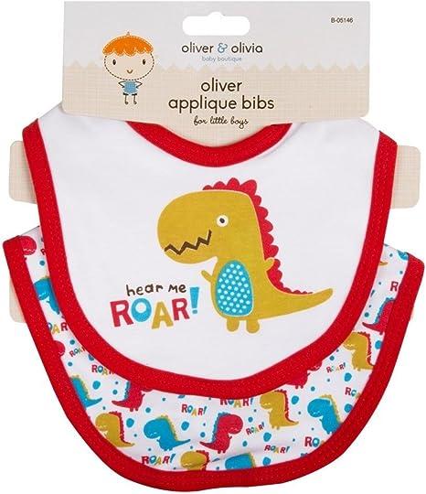 Pack de 2 baberos para bebé. 4 diseños de Pirate Cheeky Monkey Monster y Dinosaurio (rojo): Amazon.es: Bebé