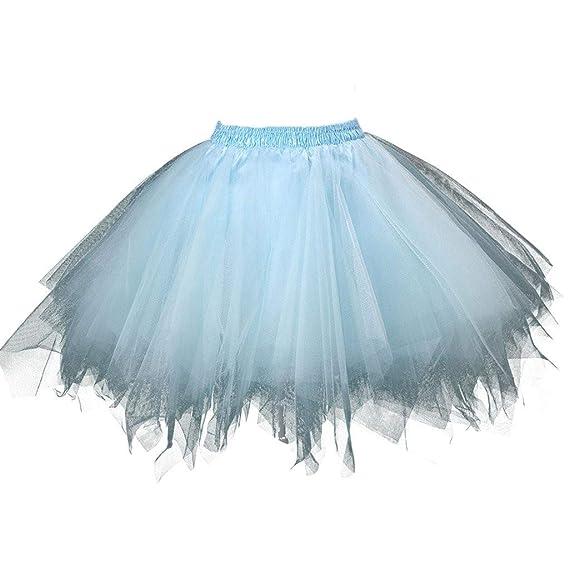 TUDUZ Falda Plisada De Cintura Elástica para Mujer Mini Falda ...