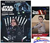 #10: 2016 Topps Star Wars Rogue One Series 1 EXCLUSIVE Factory Sealed Retail Box with 10 Packs & VERY SPECIAL MEDALLION Card! Plus SPECIAL BONUS of Topps Star Wars The Force Awakens Foil Pack! Wowzzer!