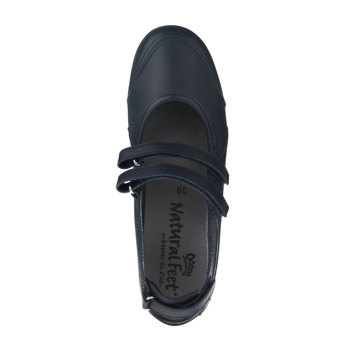 Natural Feet Tessamino Damen Ballerina aus Hirschleder | Sportlich für | Weite H | für Sportlich Einlagen 649091