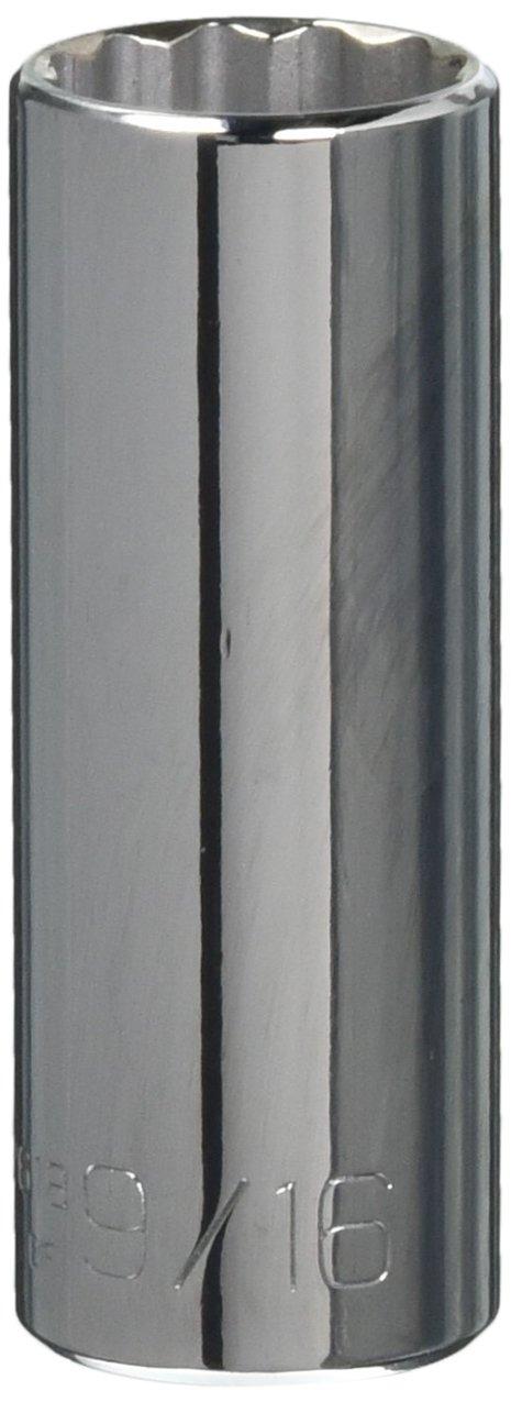 Wright Tool 2618 1//4 Drive 12 Point Deep Socket 9//16 9//16