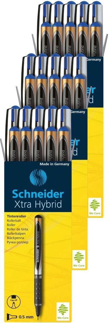 Schneider Xtra Hybrid Rollerball Pens, 0.5mm, Blue Ink, 30 Pack (30183) by Schneider (Image #1)