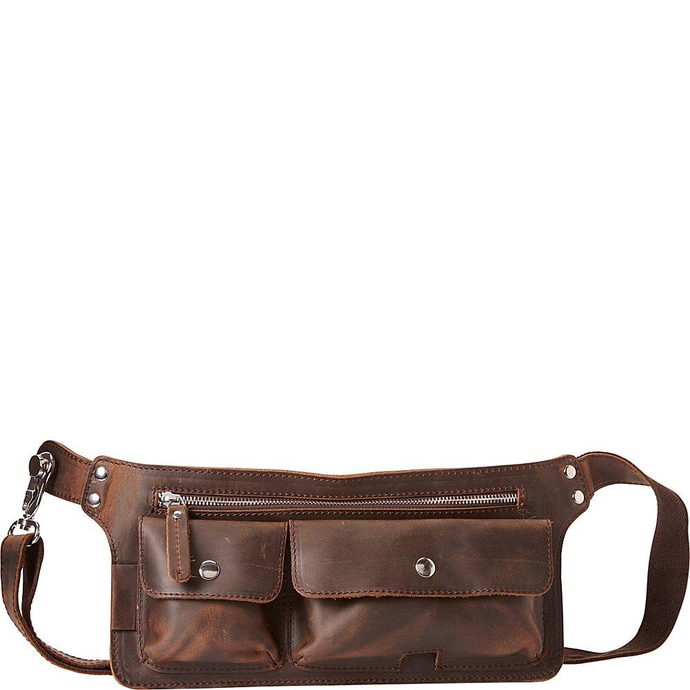 Vagabond Traveler Slim Long Shape Waist Bag (Dark Brown)