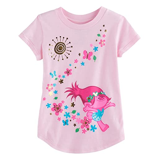5b4cdee6e Amazon.com: Jumping Beans Toddler Girls 2T-5T DreamWorks Trolls Poppy  Graphic Tee 4T Light Pink: Clothing