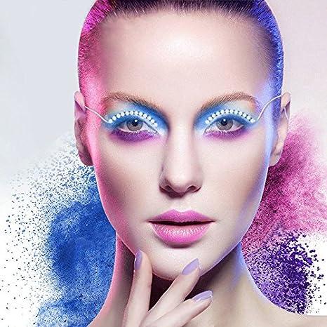 6955b2f639b LED Eyelashes Light Luminous Shining Eyelid Tape F-lashes LED Unisex False  Lashes Shining Eyeliner Charming Flashes Color Changing LED Lights for Party  Bar ...