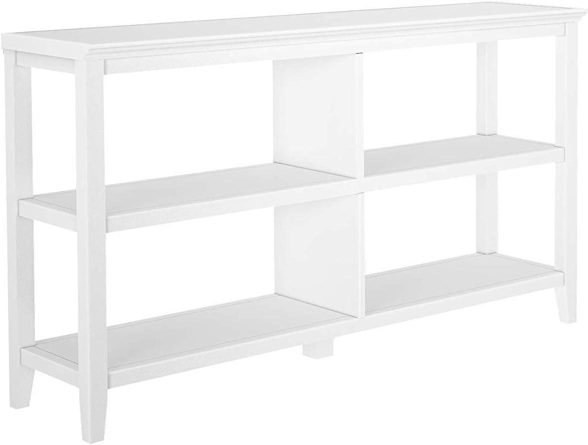NewRidge Home Goods NewRidge Home Bookcase Bookshelf, Horrizontal, White