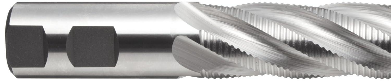 TiCN Monolayer Finish Weldon Shank 1.25 Shank Diameter Melin Tool CC-L Cobalt Steel Square Nose End Mill 1.5000 Cutting Diameter 30 Deg Helix 6.5000 Overall Length 4 Flutes