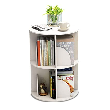 Creative 360Rotating Bookshelf Bookcase Simple Modern Table Landing Student Multi Layer Rack
