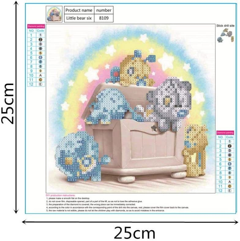 Bear 5 Staron Hot Sale Diamond Cross Stitch Painting Number Kit 5D Diamond Crystal Rhinestone Pasted Embroidery Painting DIY Craft Home Wall Decor Rainbow Bear DIY 5D Diamond Painting