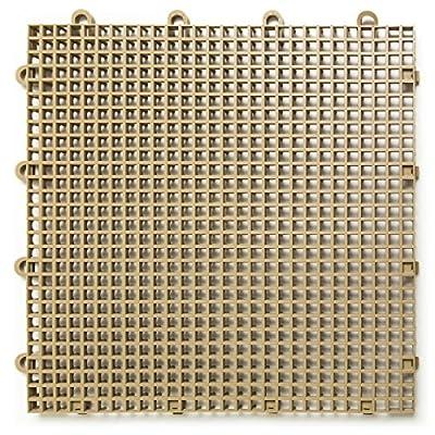 DuraGrid ST24BEIG, Beige Comfort Tile Interlocking Modular Multi-Use Safety Floor Matting (24 Pack), Piece