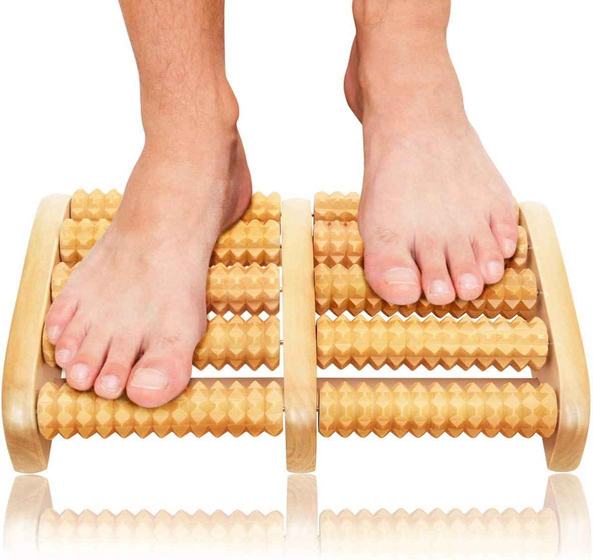 Christmas Gifts Dual Foot Massager Roller - Unique Gifts for Men, Women, Mom, Dad, Teacher - Original Shiatsu Massage for Foot, Leg, Back - Relax & Relieve Foot Pain, Plantar Fasciitis, Stress Relief