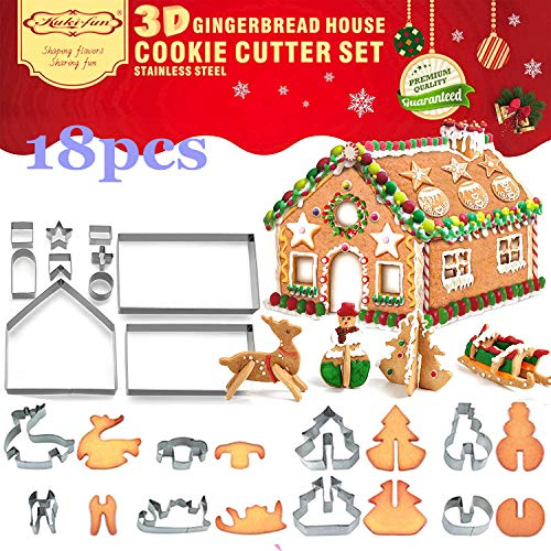 3D Christmas House Cookie