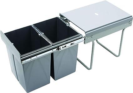 Recycle Bin Pull Out Kitchen Waste Bin 400mm 40 Ltr Jc 602 By Rejs Amazon De Kuche Haushalt Wohnen