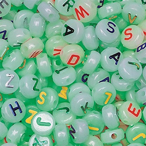 Glow in The Dark Alpha Beads 1/2 lb. Bag ()