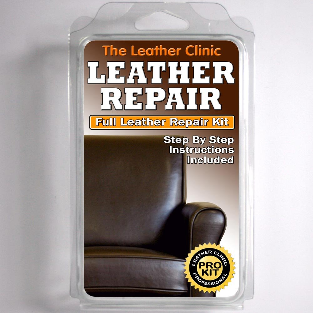 DARK BROWN Leather Sofa U0026 Chair Repair Kit For Tears Holes Scuffs With  Colour Dye