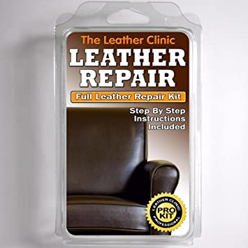 DARK BROWN Leather Sofa & Chair Repair Kit for tears holes scuffs ...