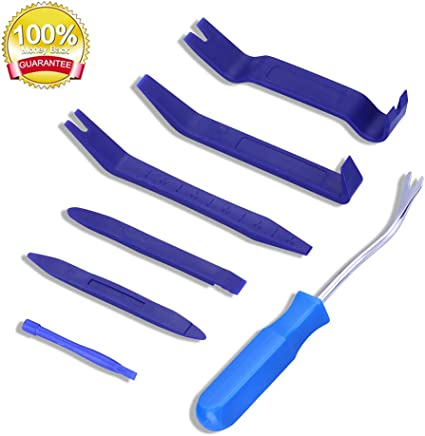 Audio Dashboard /& Car Door Clip Panel Removal Install Trim Removal Tool for Car Interior Parts 7pcs Car Plastic Pry Tool Kit ARISD Auto Trim Removal Tool Kit