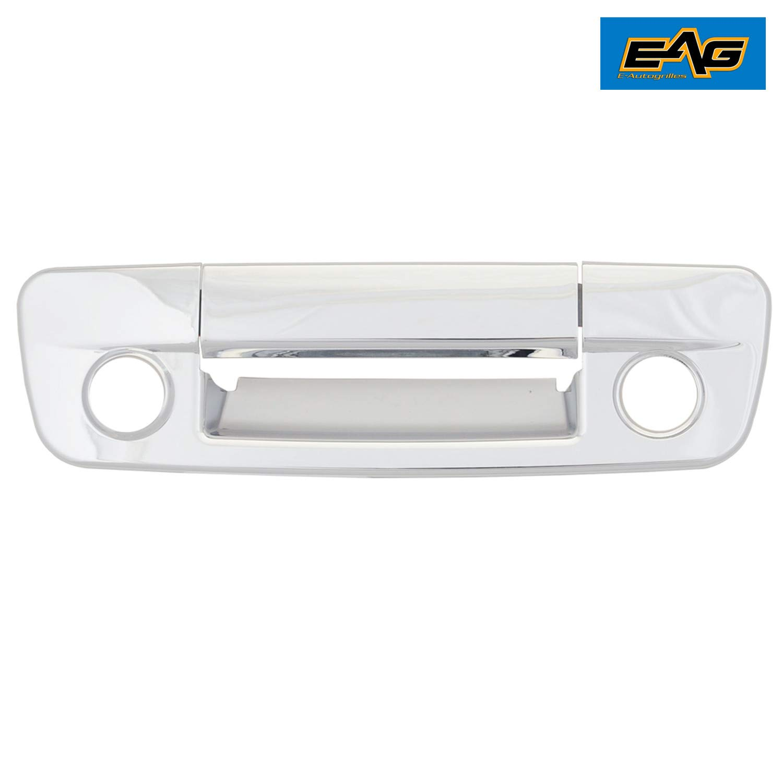 EAG 09-16 Dodge Ram 1500//10-16 Dodge Ram 2500//3500 Triple Chrome Plated ABS Tailgate Handle Cover With Keyhole /& Camera Hole