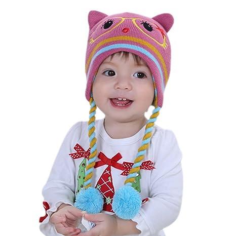 Happy Cherry Baby piccolo bambino invernale Set bambino e disegno di  ragazza con cappello lavorato a 5e13e587d617