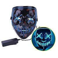 JYOHEY LED Maske 3 Einstellbare Blitzmodi Horror Halloween Maske Cosplay Fasching Halloween Kostüm