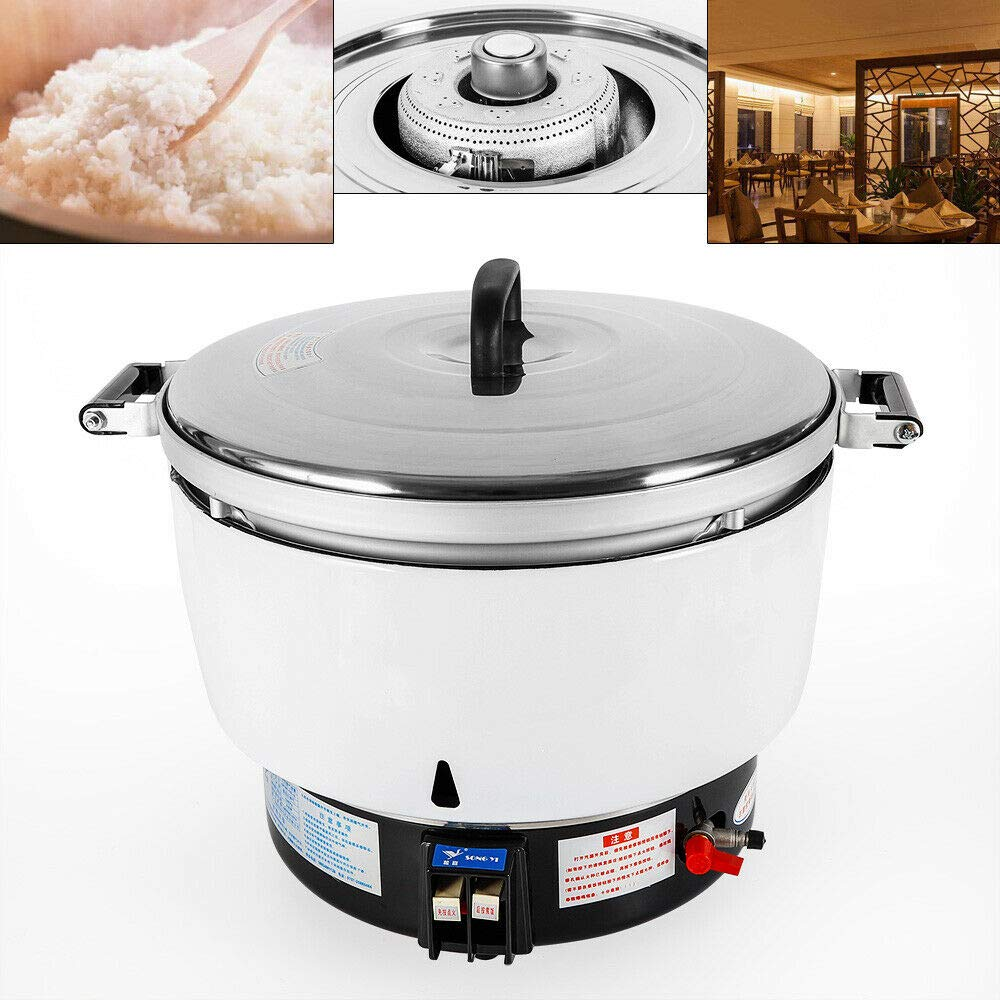 WUPYI Rice Cooker,Natural Gas Rice Cooker 50 Cups 10L Commercial Kitchen Cooking Rice Cooker for 50-60 people,Thermal load 8KW