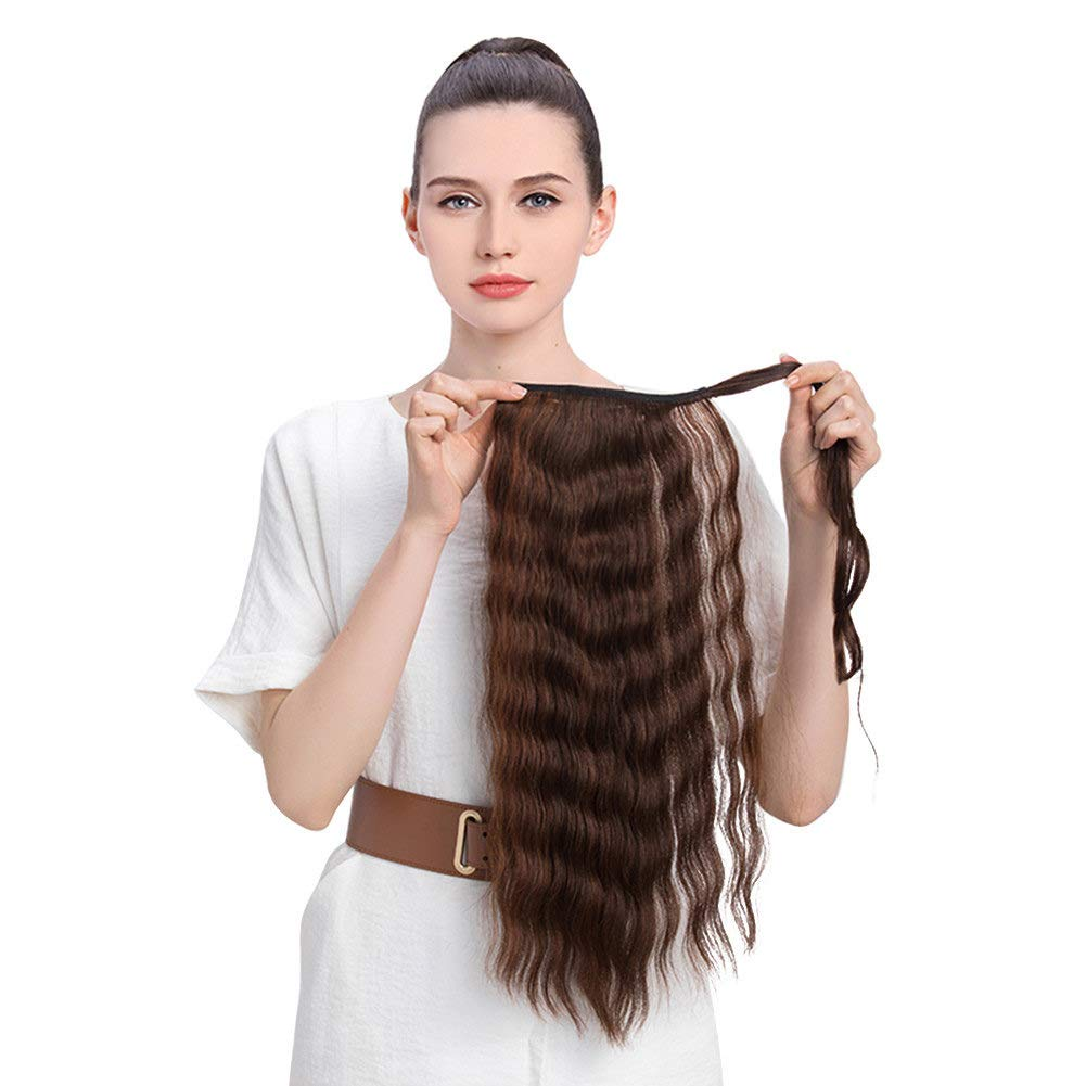 Amazon One Piece Clip In Ponytail Extensions Water Wavy Real