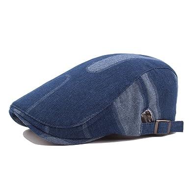 59af4e20c6e BigForest Men Women Classic Denim Flat Hats Vintage Ivy Gatsby Newsboy  Duckbill Caps