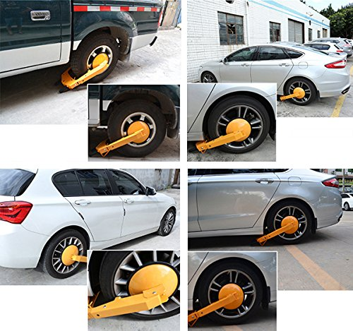 COOCHEER Heavy-duty Car Tire Wheel Lock Anti-theft Lock (large) by COOCHEER (Image #2)
