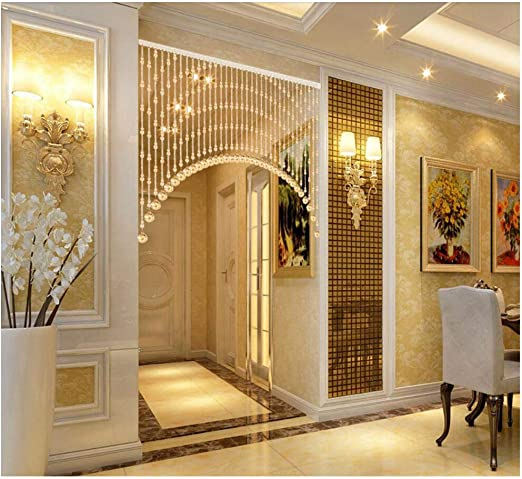 YDFXWXZ Arco Cristal Abalorios Cortina,Puerta Decorativa De La ...