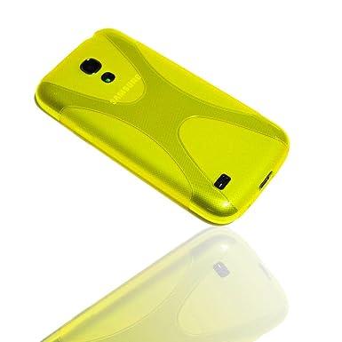 730be57a6ba Carcasa de silicona para móvil condón HW648 amarillo + Protector de  pantalla para Samsung GT-