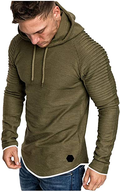 Mens Fashion Workout Sweatshirts Plus Size Adjustable Hood Solid Sweater Tops Outerwear Simayixx Men Hoodies Pullover