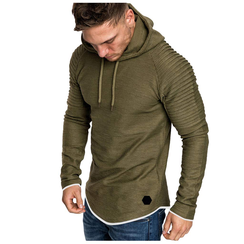 AcisuHu 2019 Young Men's Hoodies Casual Pullover Hoodie Long-Sleeve Tee Long Sleeve Tops Matching for Sports Student