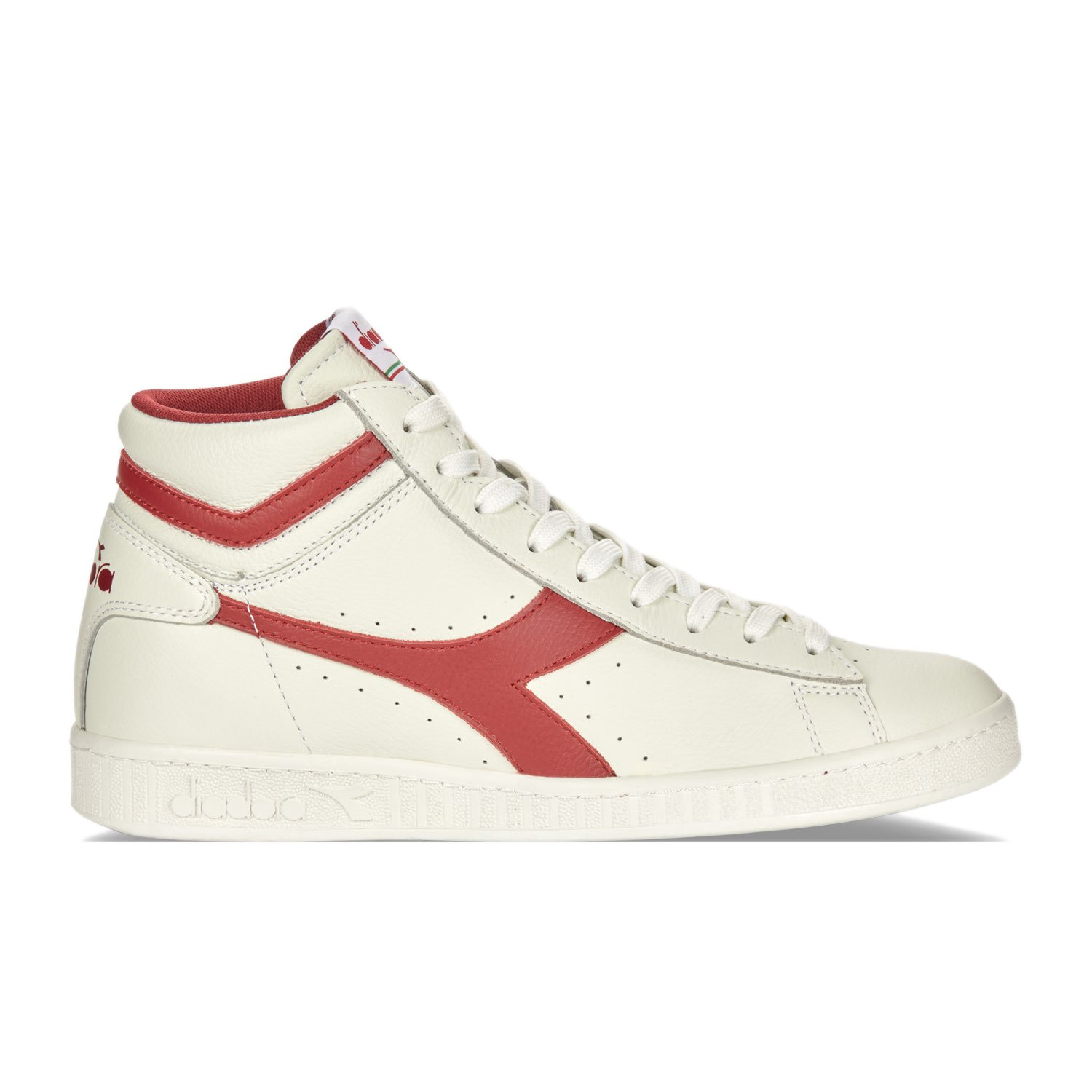 Diadora Unisex-Erwachsene Game L High Waxed Pumps  EU 38 - US 7 - UK 5 (cm 235)|C6313 - WEISS-ROT-WEISS PEPPER