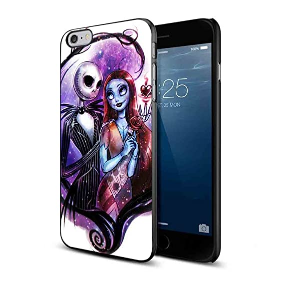 low cost c2e41 9a562 Nightmare Before Christmas Jack and Sally for Iphone and Samsung Galaxy  Case (iPhone 6/6s black)