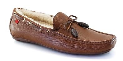 558cb6ab780 Marc Joseph NY Men s Fashion Shoes Rockefeller Fur Lining Cognac Grainy  Loafer Size 8.5 (More