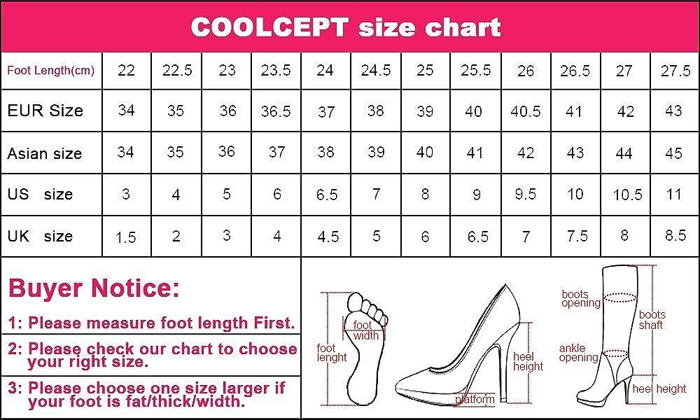COOLCEPT Damen Stiefel Heels Over Over Over Knee Stiefel Reißverschluss 0aef4e