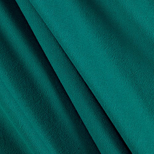 - Fabric Merchants Double Brushed Solid Jersey Knit Jade