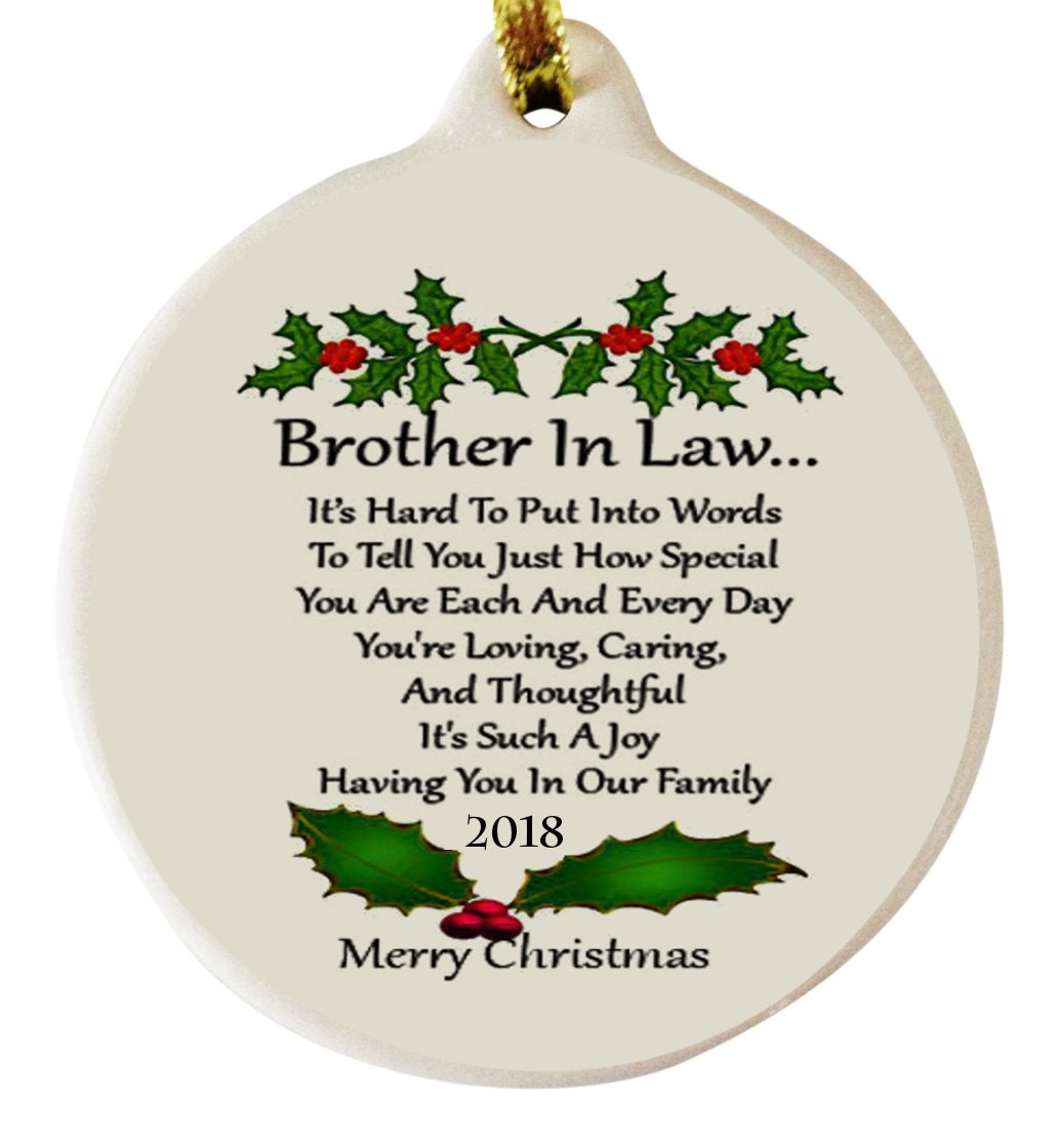 Brother in Law 2018 Porcelain Ornament Gift Boxed Rhinestone Special Bond Family Love