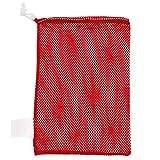 Champion Sports Mesh Equipment Bag (Red, 12 x 18-Inch)