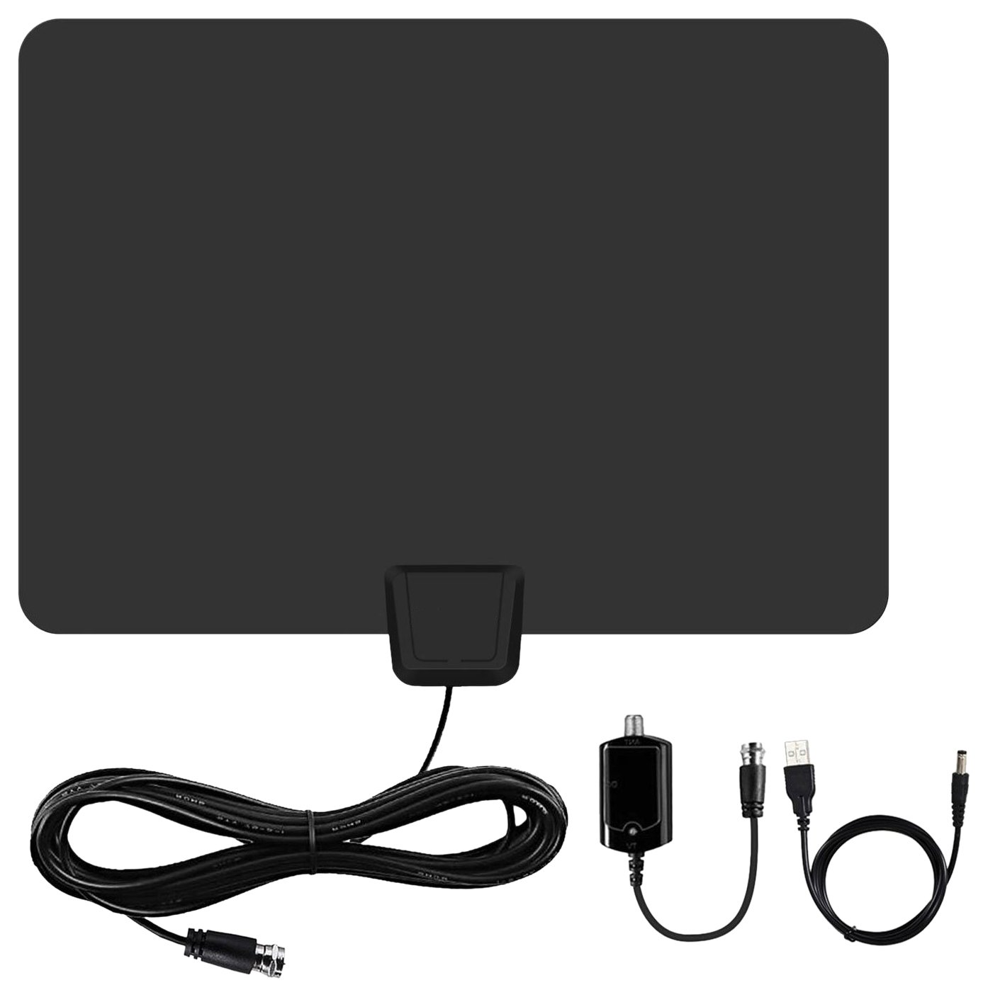 TV Antenna, Gipow 50 Mile Range Amplified Indoor HDTV Antenna with  Detachable Amplifier USB Power