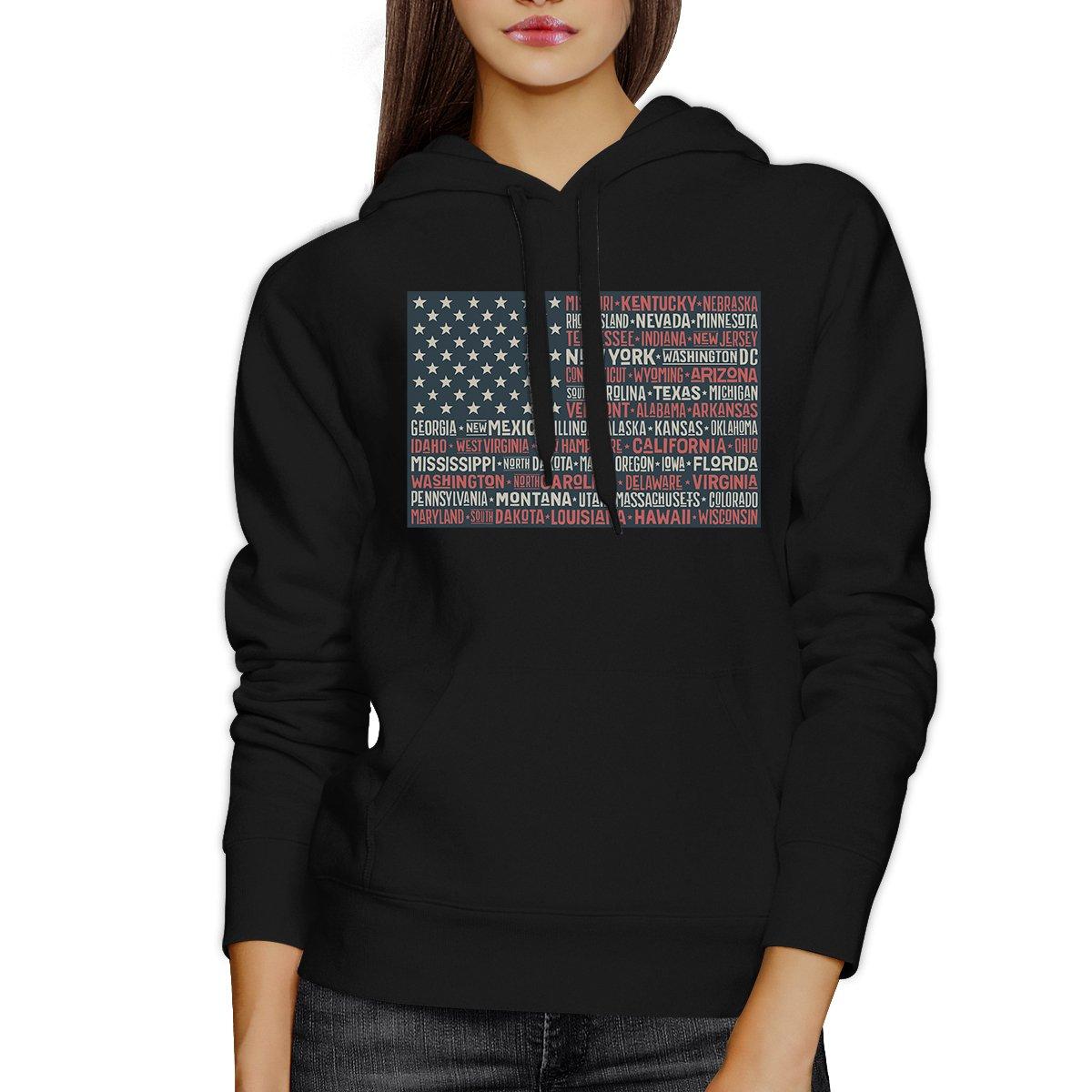 Amazon.com: 365 Printing American Flag Hoodie Black Pullover USA Flag Graphic Hoodie Fleece: Clothing
