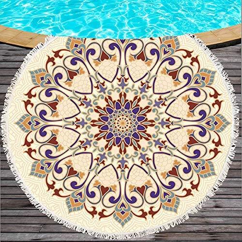 BaFangFlor de Mandala Toalla de Playa Loto Indio Impreso ...